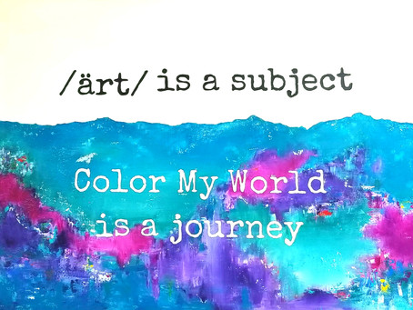 """At Color My World, we encourage """"Individual Interpretation & Creativity."""" Enroll your child today!"""