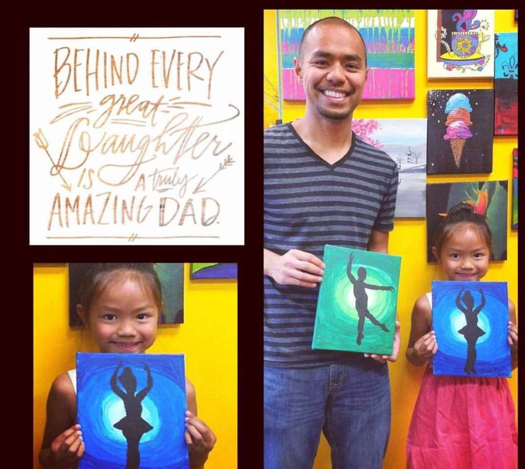 Father Daughter Paint Date