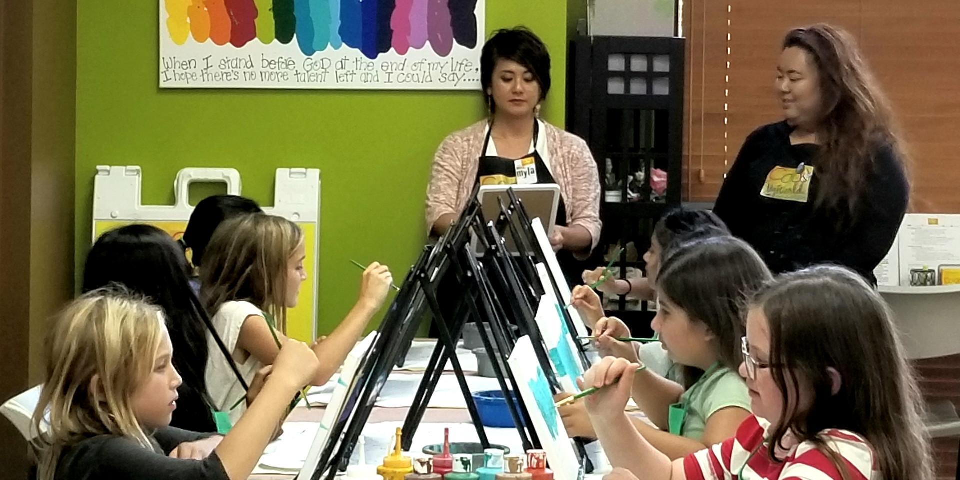 open canvas art paint party