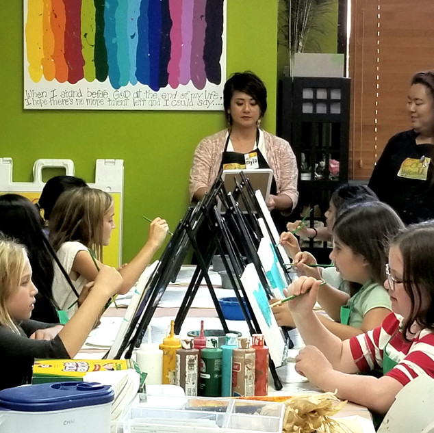 open canvas art paint party