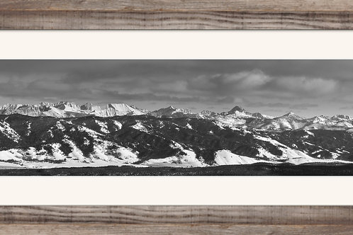 12x36 Framed and matted print