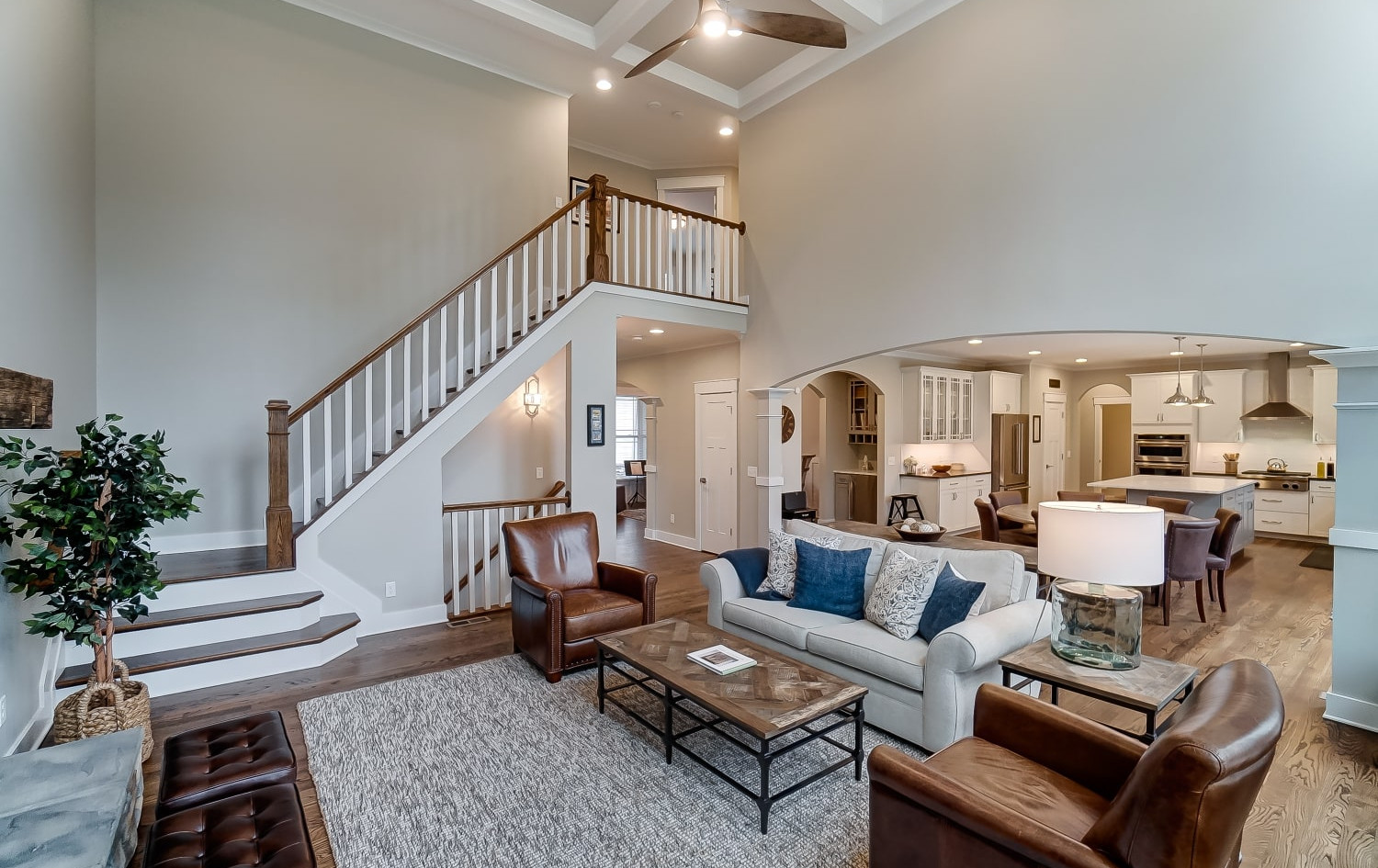 Staircase leading to bedrooms in a single family house planned by Ashford Homes