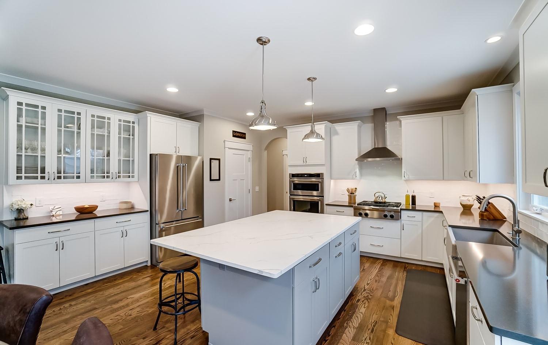 Sleek and professionally designed kitchen unit by Ashford Homes
