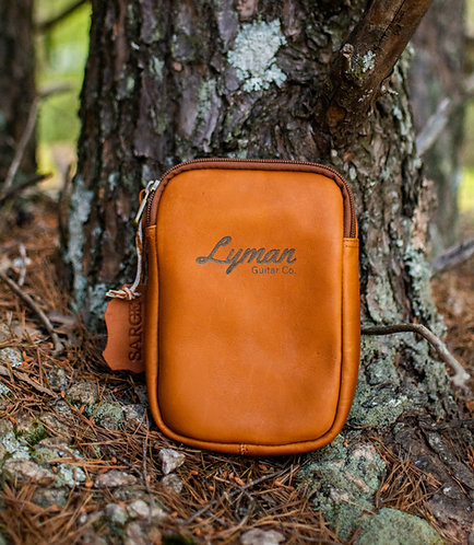 Lyman Guitar Leather Carrying Pouch