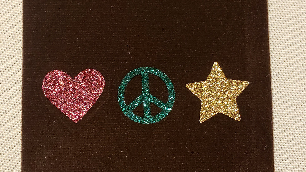 Love, Peace & Stars - Crystal Pouch