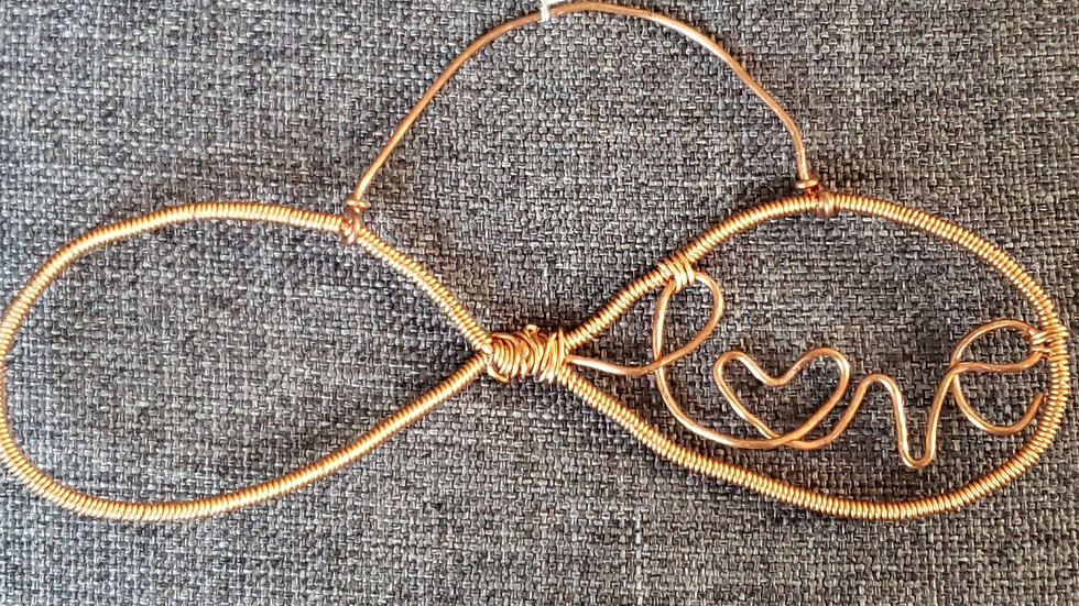 """LOVE"" Copper Pendant"