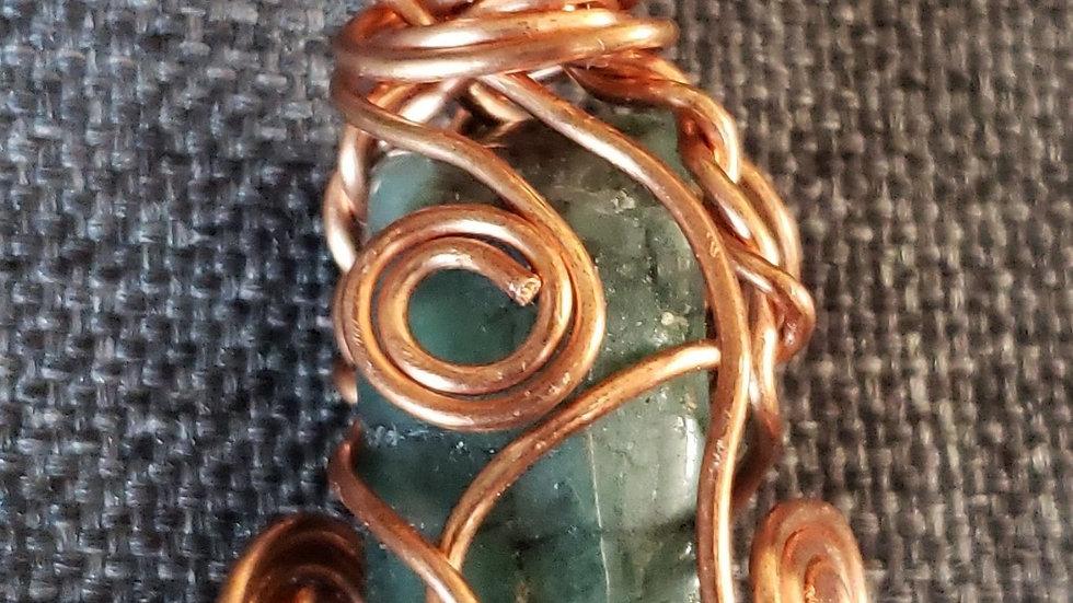 Emerald Copper Pendant