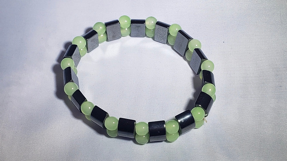 Hematite & Green Aventurine Bracelet