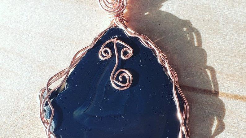 Agate Copper Pendant