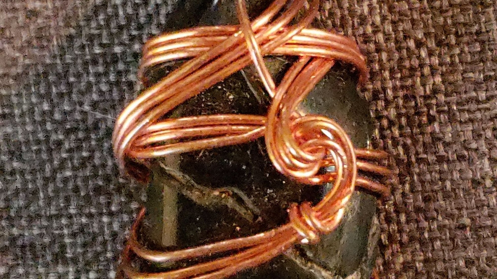 Blue Tiger's Eye Copper Pendant