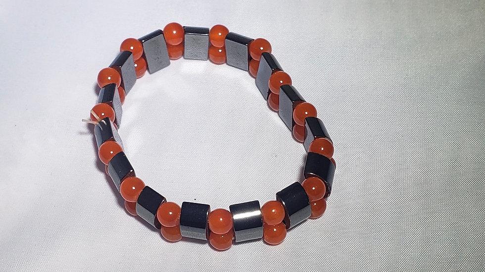 Hematite & Carnelian Bracelet