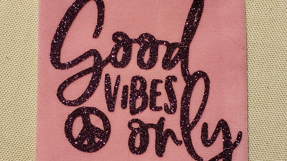 Good Vibes Only Crystal Pouch