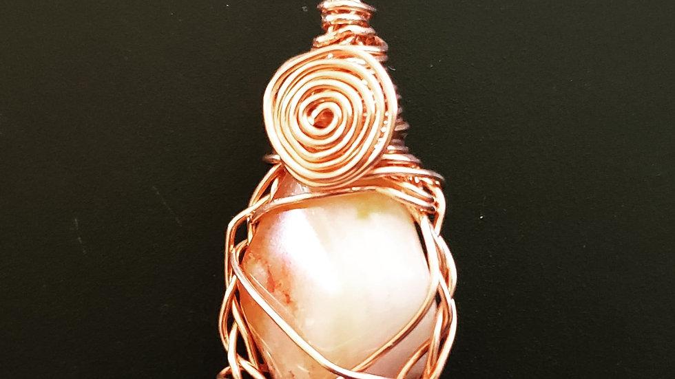 Carnelian Copper Pendant