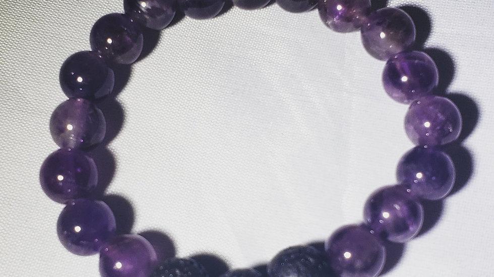 Amethyst Lava Bracelet