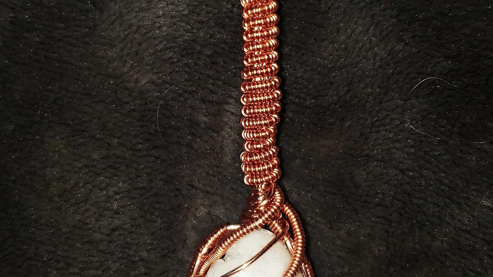 Pink Opal Copper Pendant