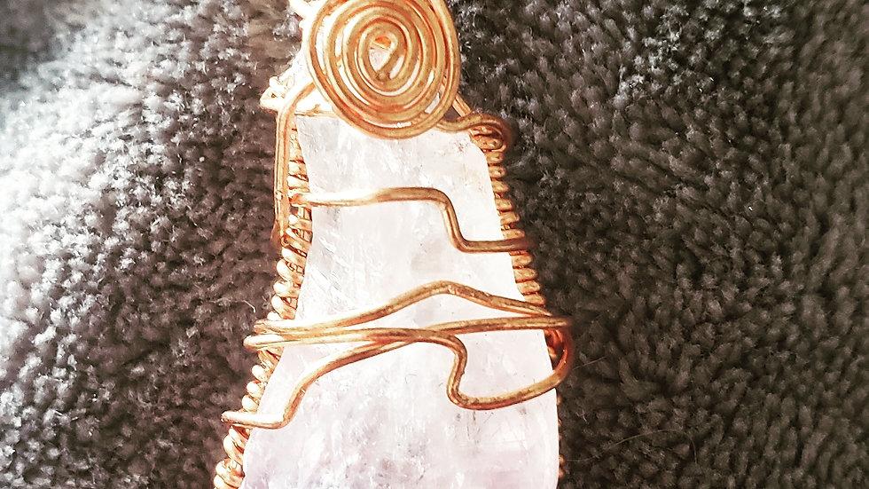 Amethyst Copper Pendant