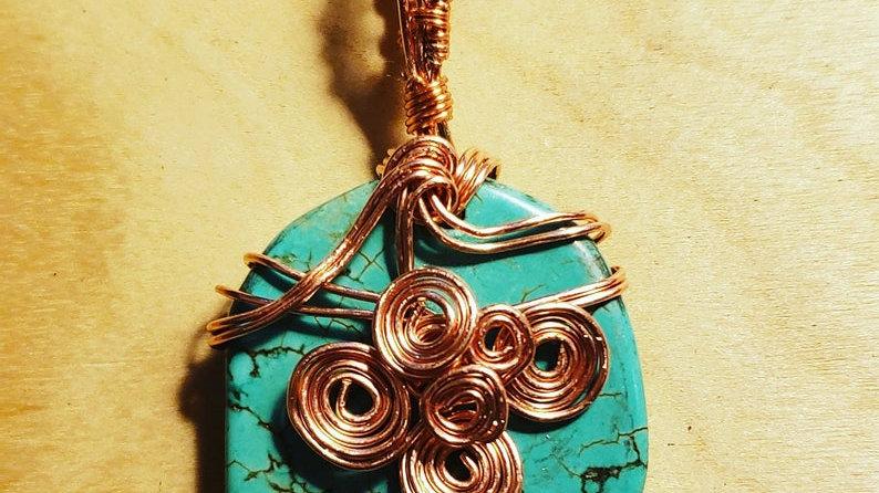 Turquoise Copper Pendant