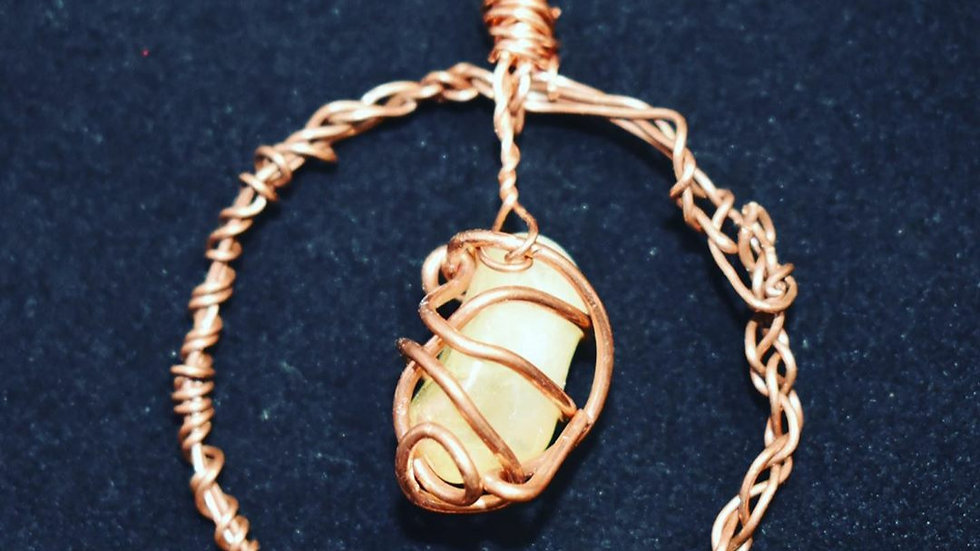 Citrine Copper Pendant