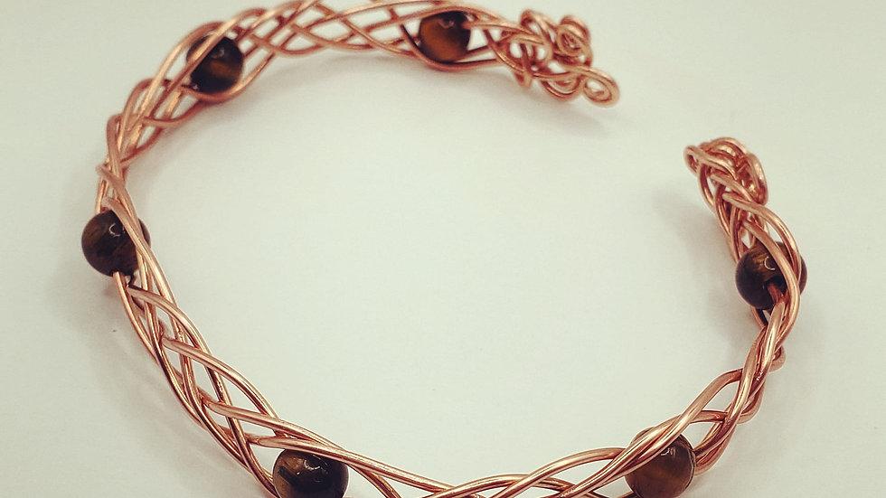 Tiger's Eye Wire Bracelet