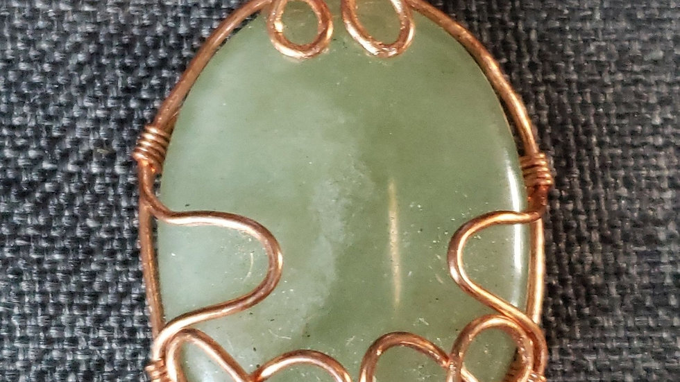 Green Aventurine Copper Pendant