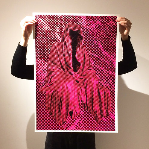 When it's your time to go / fluro pink, Charlie Cameron