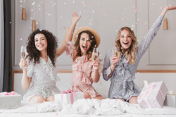 Luxury bachelorette party in posh apartm