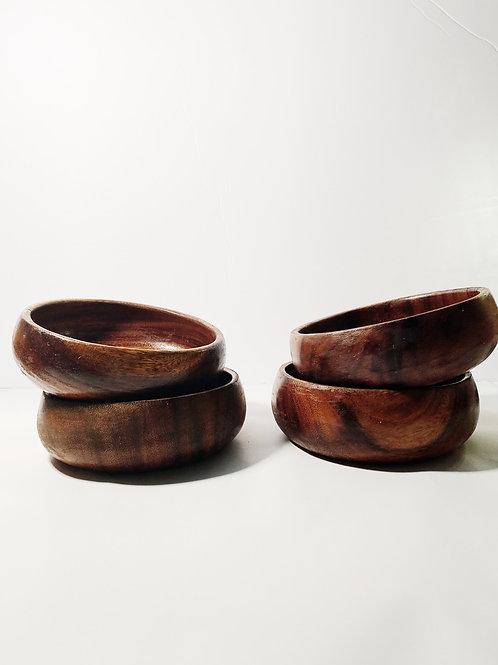 Bamboo Wide Bowl Set