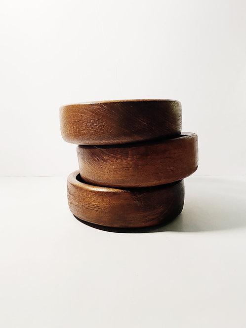 Shallow Bamboo Bowl Set
