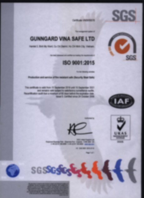 SGS ISO9001:2015