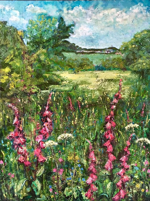 Foxgloves in the Landscape
