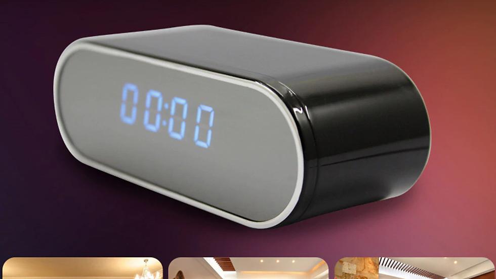 1080P HD Clock Camera Wireless WIFI Micro Cam IR Night View Alarm Camcorder