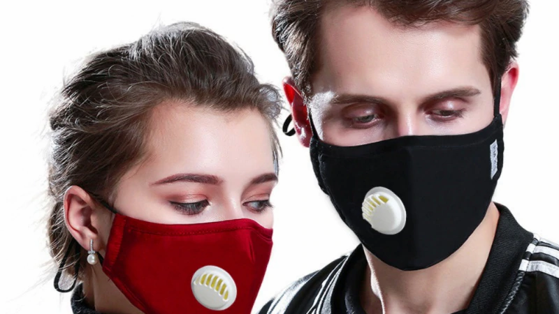 PM2.5 Mask +2 Filters Breathe Reusable Face Mask Anti For Outdoor Sports&Travel