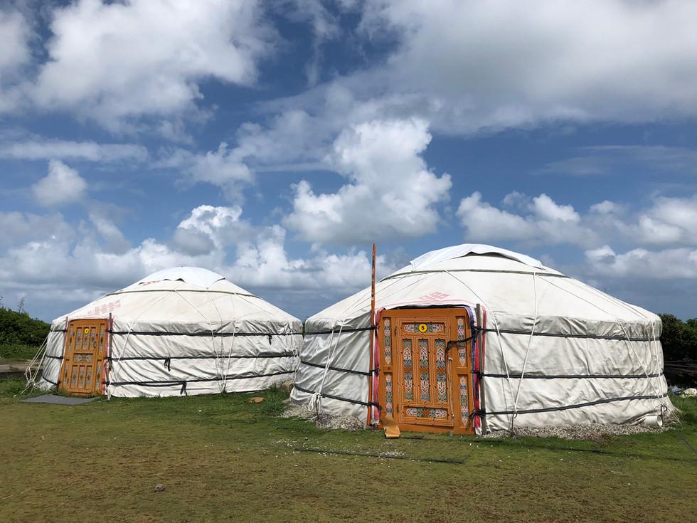 [新北露營趣]來北海岸半島秘境吹海風住蒙古包