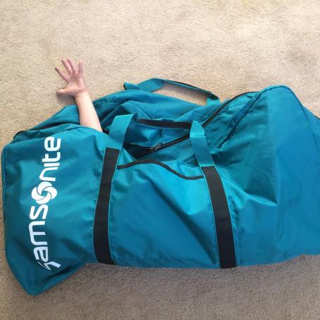 Samsonite超大摺疊旅行袋:推薦給很愛買的人