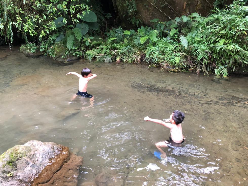 {新北露營趣}可以玩水抓溪蝦的三峽花蝶森林