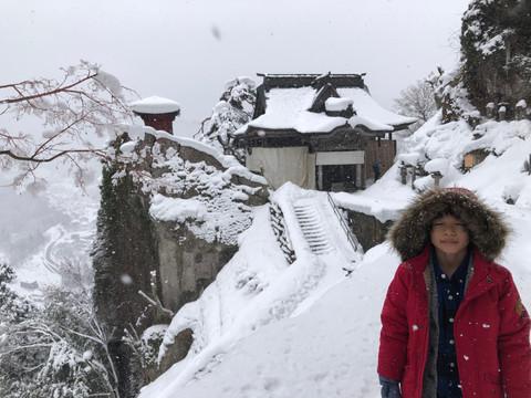 {山形.山寺}白雪中的山寺,整座山都是我的溜滑梯!