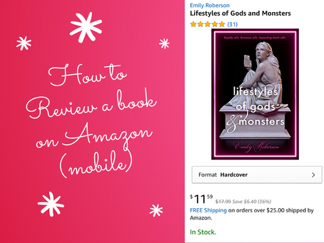 How to review a book on Amazon (mobile)