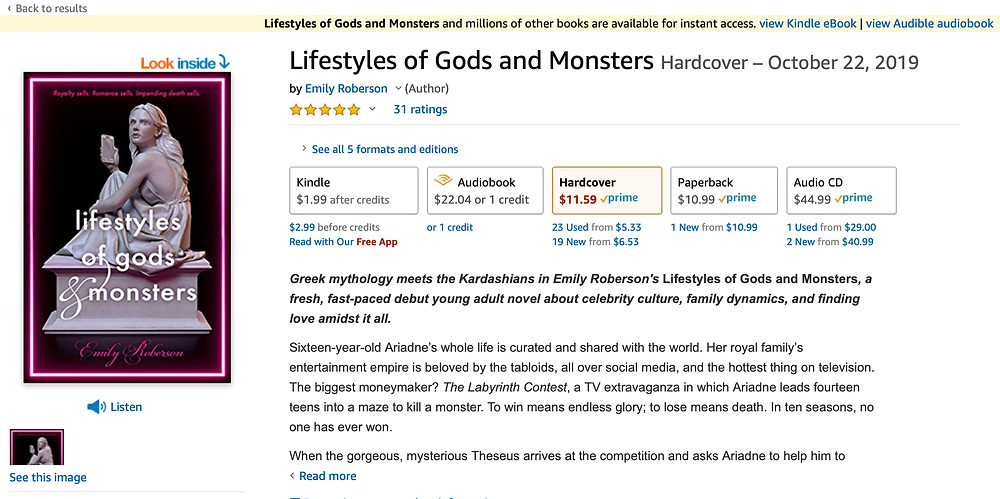 LIFESTYLES OF GODS AND MONSTERS product page