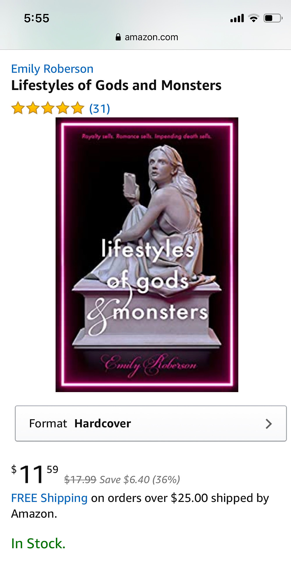 Amazon page for Lifestyles of Gods & Monsters