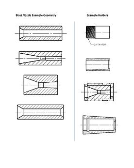 Blast Nozzles and Holders Line Art Examp