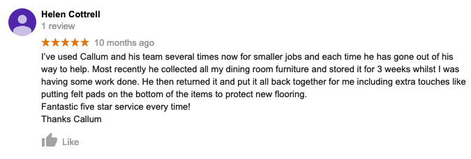 Callums removals review
