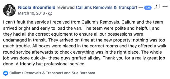 Removals Review