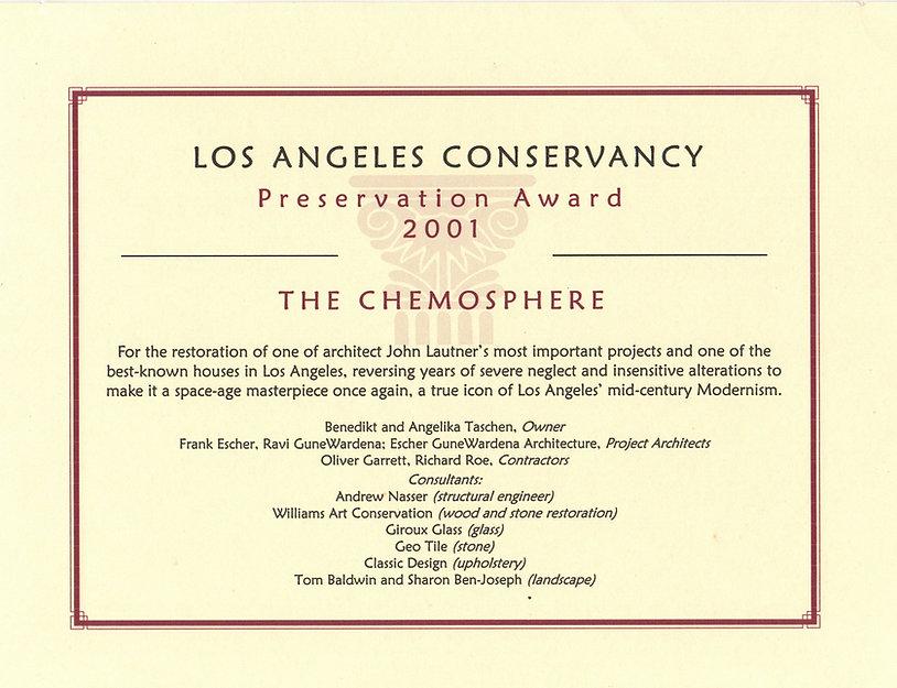 Chemosphere Preservation award 2001.jpg