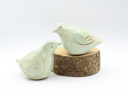 Love Birds Pale Green - Ceramic