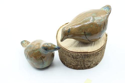 Love Birds Green/Blue- Ceramic