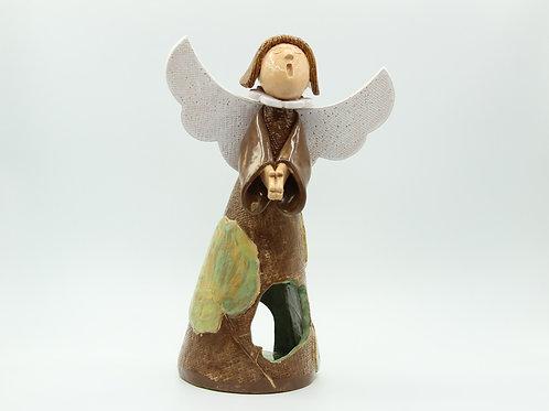 Coll/Hazel (Pale Green) Angel - Ceramic