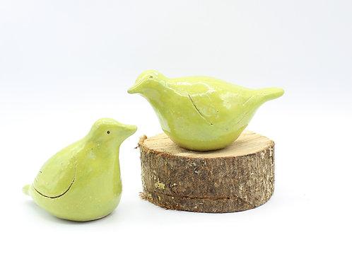 Love Birds Lime Green - Ceramic