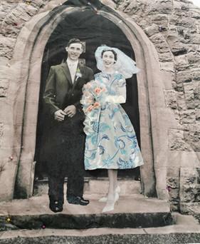Church door couple
