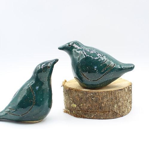 Love Birds Teal - Ceramic