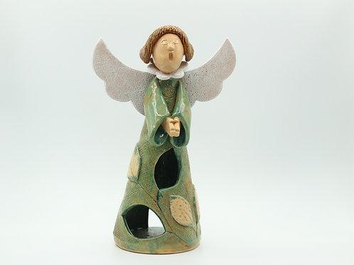 Fea/Beech (Lime Green) Angel - Ceramic